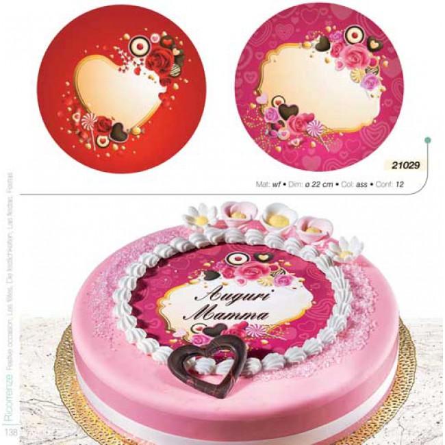 Per TeDecoro Cm Cake Torta Disco Cialda Design Ø 22 Rc35q4jAL