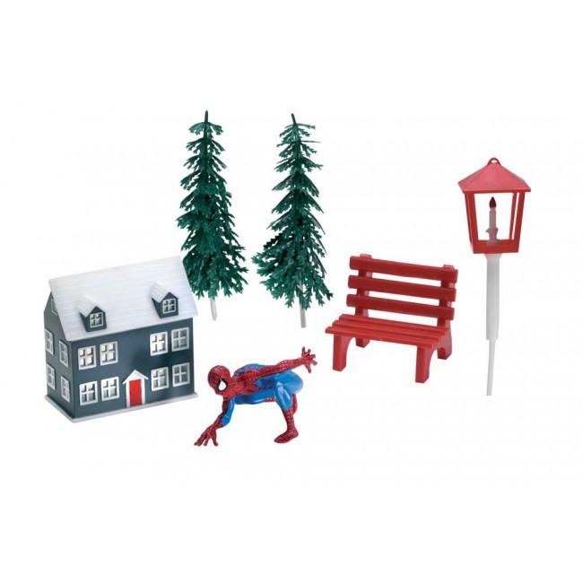 Kit personaggio spiderman pezzi plastica wfd