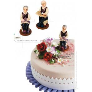 """PERSONAGGI """"I NONNI"""" 1 PEZZO DECORO TORTA CAKE DESIGN AMBRA'S"""