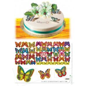 CIALDE 6 FARFALLE ASSORTITE VARIE MISURE CAKE DESIGN AMBRA'S