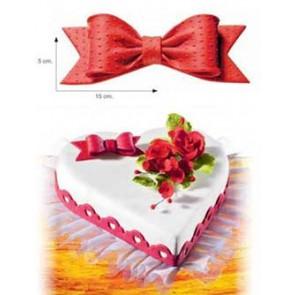 DECORO FIOCCO IN ZUCCHERO GRANDE 5X15 CM CAKE DESIGN