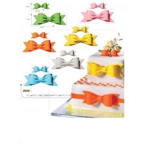 DECORO FIOCCO ZUCCHERO GRANDE VARI COLORI 5X15 CM CAKE DESIGN