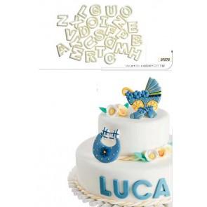 SET TAGLIAPASTA LETTERE ALFABETO CAKE DESIGN DEKORIS