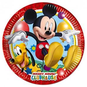 DISNEY TOPOLINO 8 PIATTI IN CARTA 23 CM