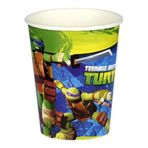 TEENAGE MUTANT NINJA TURTLES BICCHIERI IN CARTA 266 ML PEZZI 8