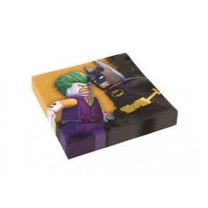 LEGO THE BATMAN TOVAGLIOLI 2 VELI 33X33 cm 20 PEZZI