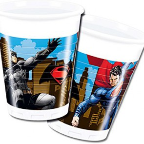 COMICS BATMAN VS SUPERMAN BICCHIERI IN PLASTICA 200 ML PEZZI 8