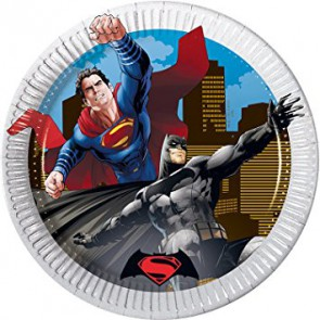 COMICS BATMAN VS SUPERMAN PIATTI DESSERT IN CARTA 19,5CM PEZZI 8