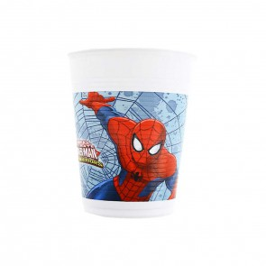 MARVEL ULTIMATE SPIDERMAN BICCHIERI IN PLASTICA 200 ML PEZZI 8