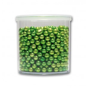 PERLE IN ZUCCHERO METALLIZZATE 6 MM 150 GR VERDE DEKORIS CAKE DESIGN