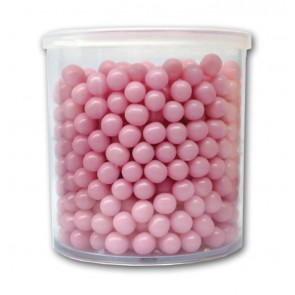 PERLE IN ZUCCHERO SATINATO 6 MM 150 GR ROSA DEKORIS CAKE DESIGN