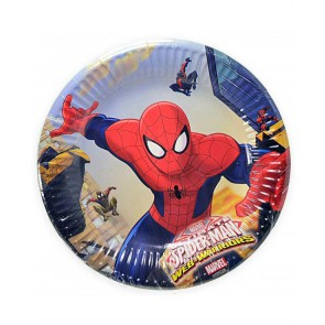 MARVEL ULTIMATE SPIDERMAN  PIATTI DESSERT IN CARTA 19,5CM PEZZI 8