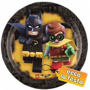 LEGO THE BATMAN PIATTI DESSERT IN CARTA 18 CM PEZZI 8