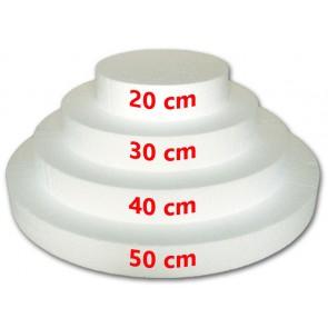 BASI DISCHI IN POLISTIROLO PER TORTA A 4 PIANI DISCO H5 DA Ø 20 - 30 - 40 - 50 CM
