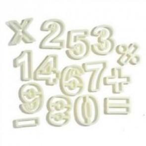 SET TAGLIAPASTA STAMPI NUMERI 0 - 9  PLASTICA CAKE DESIGN