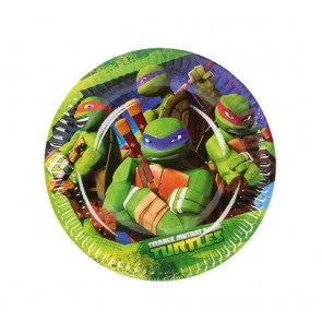 TEENAGE MUTANT NINJA TURTLES PIATTI DESSERT IN CARTA 18 CM PEZZI 8
